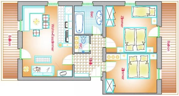 Wohnung Typ A1 70 m²