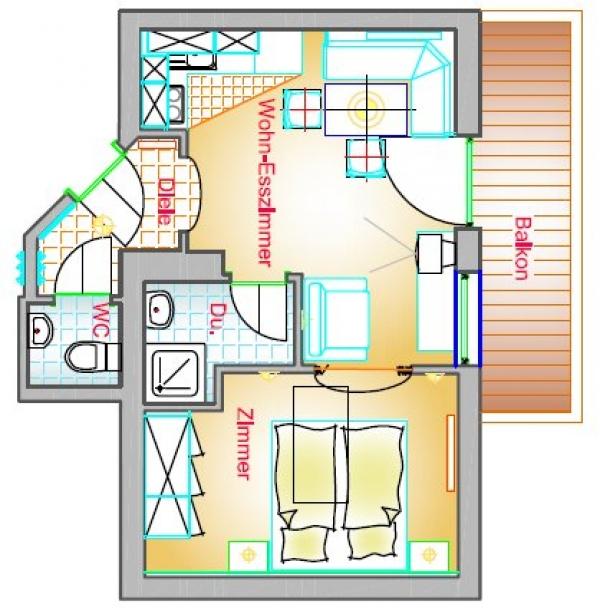 Wohnung Typ C4 40 m²